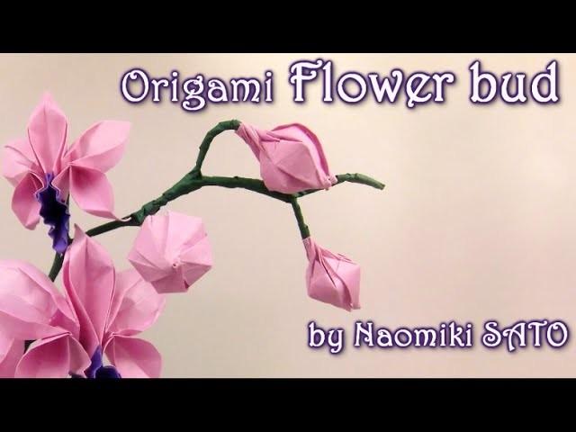 Origami Flower bud by Naomiki SATO - Yakomoga Origami tutorial