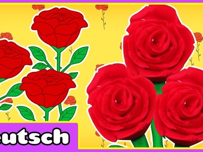 Play Doh Rose | Fun with Play Doh | Rose aus Knetmasse