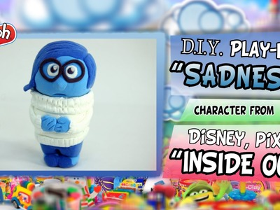 """Play-Doh """"SADNESS"""" from Disney Pixar """"INSIDE OUT"""", DIY figure step by step tutorial"""