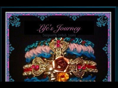 Rainbow Loom Band Life's Journey Bracelet Tutorial.How To