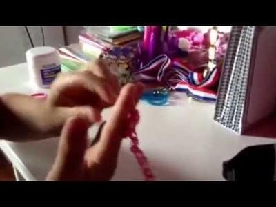 Rainbow loom collier  petit collier simple et très facile!!!