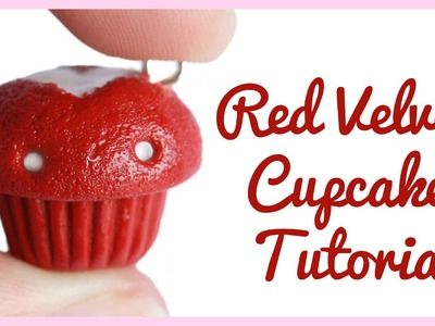 Red Velvet Cupcake Charm ● Polymer Clay Tutorial