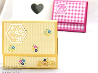 Stampin Up UK Gingham Garden Post It Note Holders