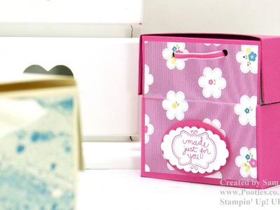 Stampin Up UK Soap or 3x3 Card Treat Box + fit of giggles