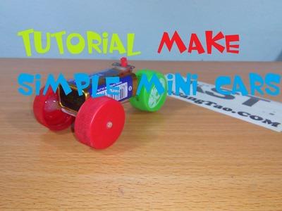 Tutorial make simple mini cars, Simple DIY cars