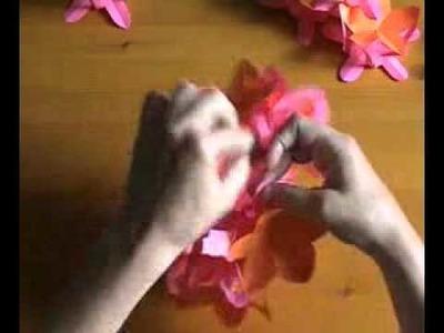 3d Paper Flower Ball.flv