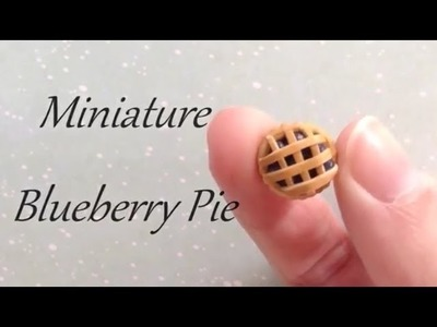 Blueberry Pie Polymer clay tutorial