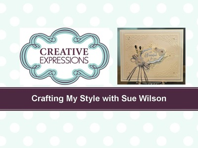 Crafting My Style with Sue Wilson Faux Capiz Shell Flower for Creative Expressions