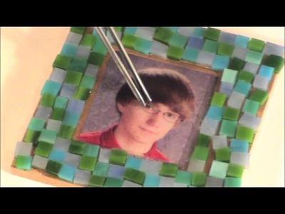 Creating a Photo Mosaic Coaster Using No Days Mosaic Adhesive