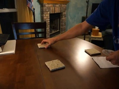 Do It Yourself Stone Beverage Coasters