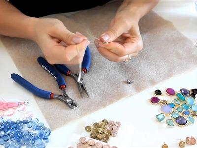 Druzy post earrings FREE tutorial video