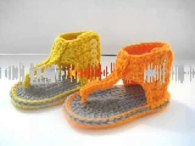Gladiator Sandals, Crochet Pattern for Baby