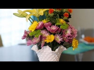 Homemade Flower Arrangements for a Wedding Reception : Great Wedding Ideas