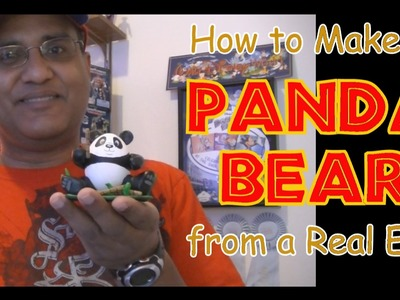 How to make a Panda Bear Egg for Easter