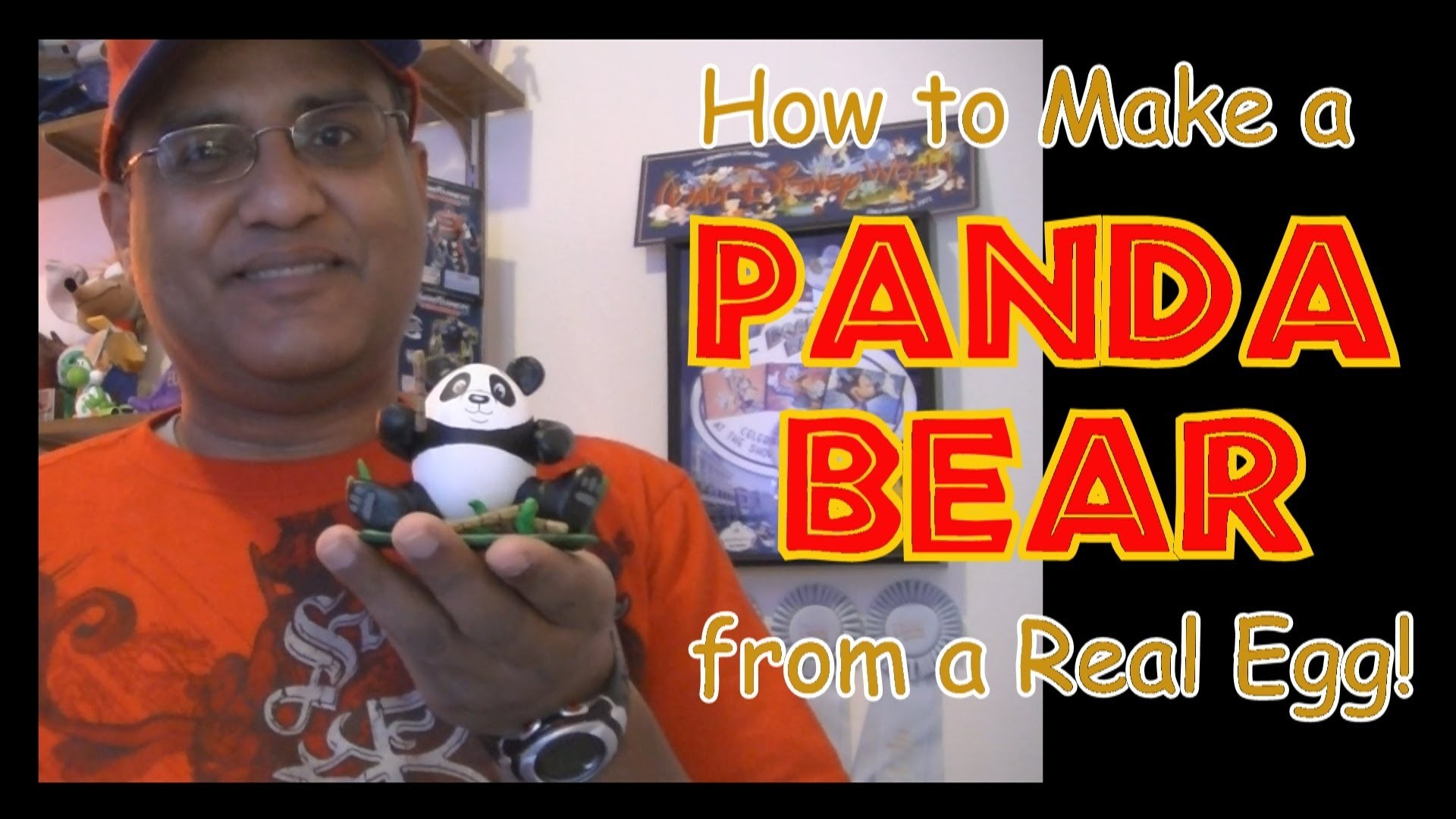 How to make a Panda Bear Egg for Easter