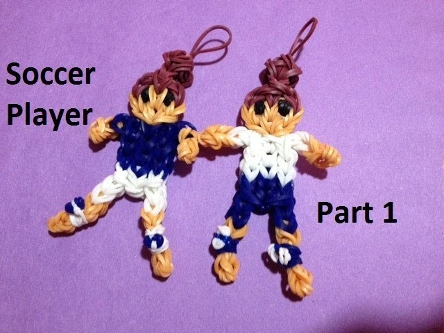 How to Make a Soccer Player on the Rainbow Loom Part 1 - Original Design