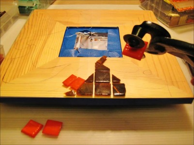 How to make a tile mirror with No Day Adhesive