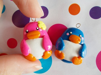 Kawaii Couple Penguin - Polymer Clay Tutorial