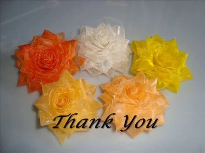 Learn How To Make Fish Scale flowers