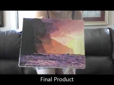 Melted Crayon Art - How To Hawaiian Sunset