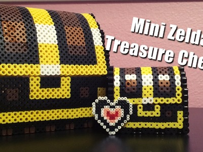 Mini 3D Perler Bead Zelda Treasure Chest!