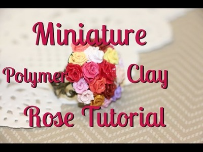 Miniature Polymer Clay Rose Tutorial {Perfect for Jewellery}
