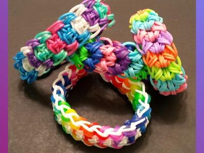 "My New Reversible ""Kabuto"" Rainbow Loom Bracelet.How To Tutorial"