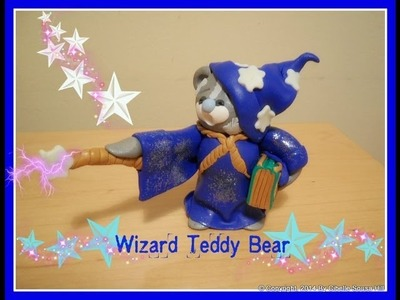 Polymer Clay Wizard Teddy Bear