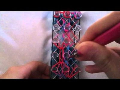 Rainbow Loom- How to make a Patchwork Quilt Bracelet (Original Design)