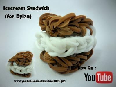 Rainbow Loom Icecream Sandwich.S'mores.Oreo Charm Tutorial