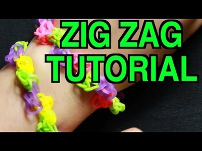 RAINBOW LOOM ZIG ZAG BRACELET - HOW TO MAKE A ZIGZAG RAINBOW LOOM BRACELET TUTORIAL