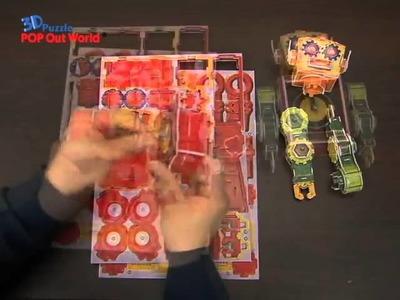 SCHOLAS 3D PUZZLE DIY CLOCK Robot Clock Tibot