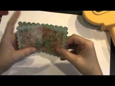 Shabby chic mini album embellishment for your chipboard mini scrapbook