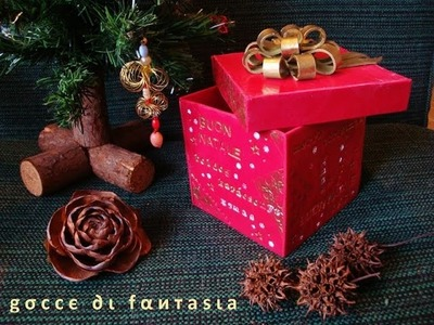 Tutorial: scatola di Natale in fimo. Christmas box made of polymer clay