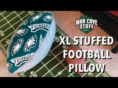 XL Man Cave Football   DIY Stuffed Pillow Idea