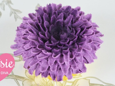 Buttercream Chrysanthemum Cupcake Tutorial