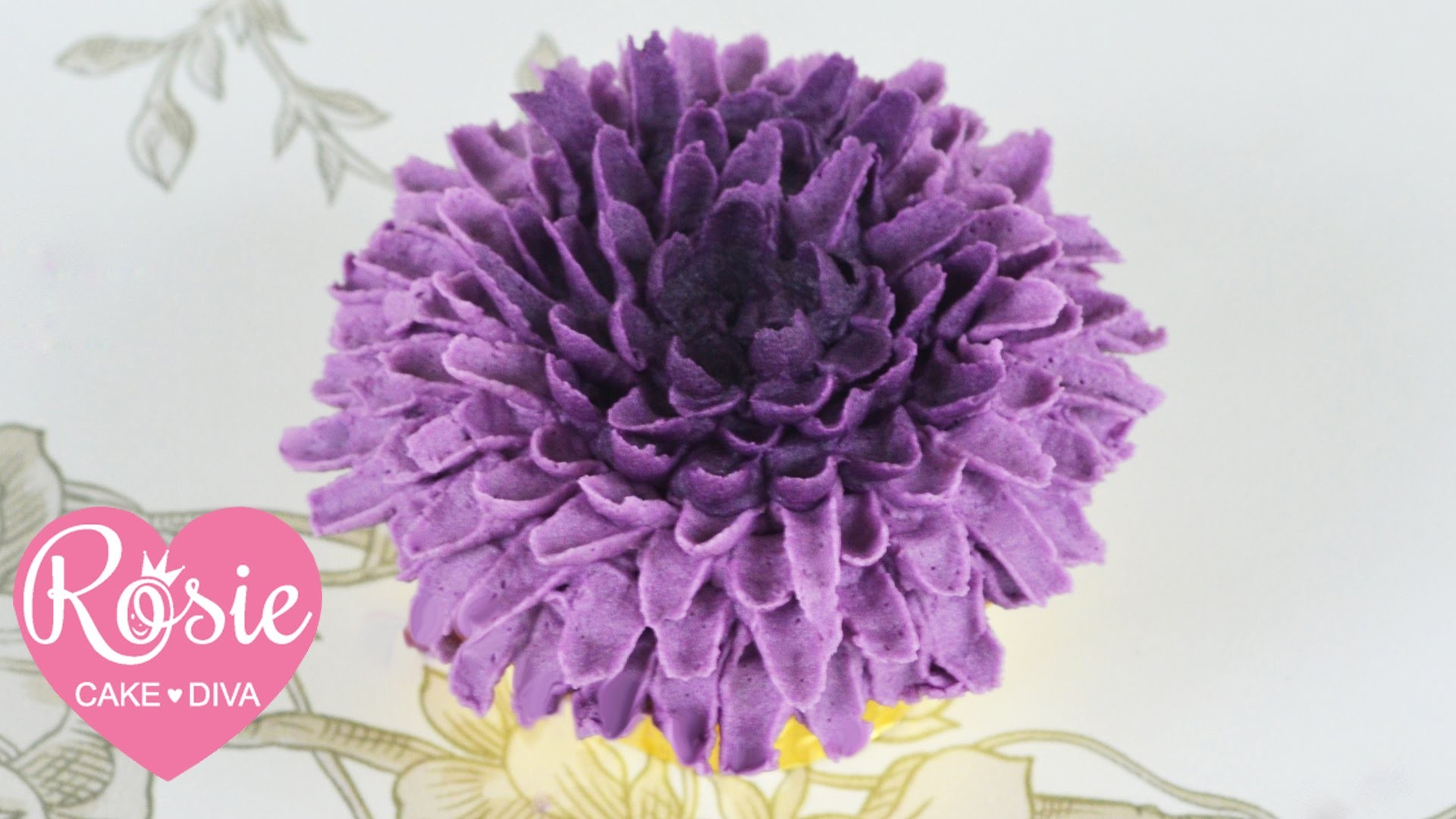 Buttercream Chrysanthemum Cupcake Tutorial