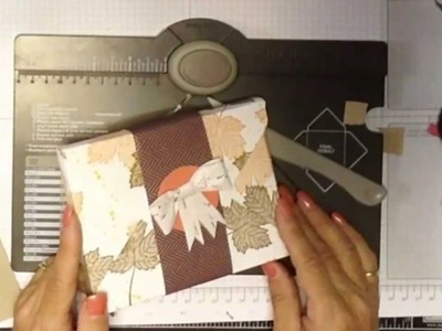 Card Keeper Box using Envelope Punch Board