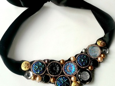 Create a Vintage Button Necklace - DIY Style - Guidecentral