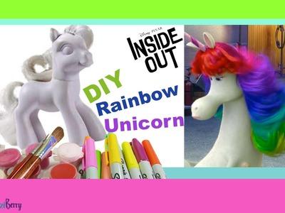 Custom mlp INSIDE OUT Rainbow Unicorn DIY. My little pony toy from Hasbro