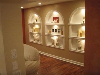 Diy built in shelves, bookshelves of plasterboard