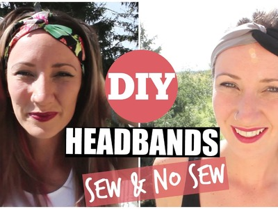 DIY Etsy Inspired Headbands - Sew and NO Sew