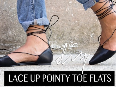 DIY Lace Up Pointy Toe Flats | The Way To My Hart