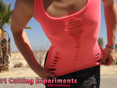 DIY Shirt Cutting ♥ Pink Tank Top Recon no-sew
