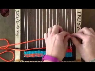 How to create a warp interlock in tapestry weaving.