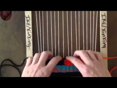 How to create a weft interlock in tapestry weaving.