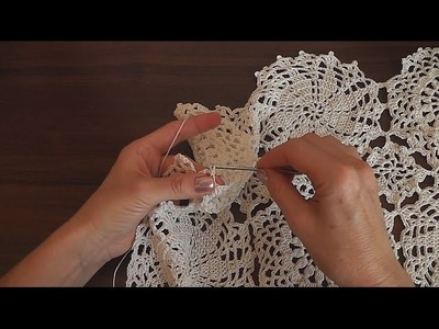 How to crochet tunic Motive for tunic sweater top doily Part 4
