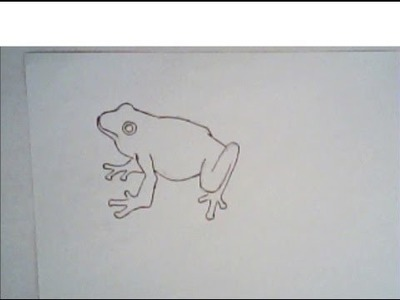 How to draw a frog (simple drawing)