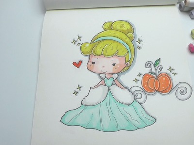 How To Draw Cinderella Easy Step by Step DIY