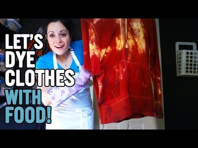 How To Dye Clothes with Food || DIY CLOTHES